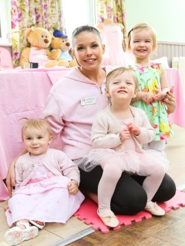 WEB  From L to R Babyballet pupils Lilliana Freya and Holly with teacher Nat